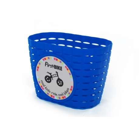 FirstBIKE basket BLUE, incl. strap&sticker