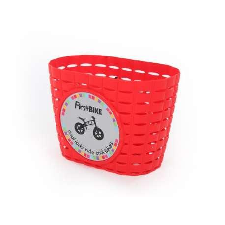 FirstBIKE basket RED, incl. strap&sticker