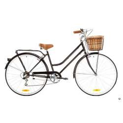 LADIES CLASSIC 7 SPEED BLACK 52